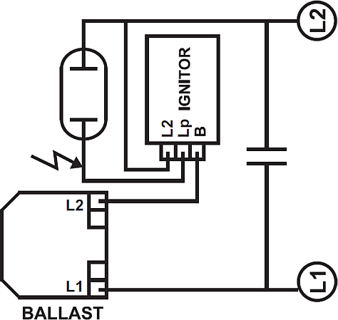 philips ballast and ignitor wiring sodium vapour lamp  wiring diagram philips led tube light